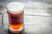 image of irish  - Mug With Dark Beer On The Wooden Table - JPG