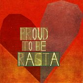 stock photo of rasta  - Proud to be rasta - JPG