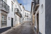 pic of faro  - View of the traditional historical streets of Faro city located in Portugal Europe - JPG