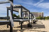 pic of vilamoura  - Massage table on beach in Vilamoura South of Portugal - JPG