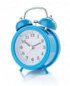 stock photo of analog clock  - alarm clock watch isolated on white background - JPG