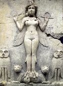 image of mesopotamia  - Ancient Babylonian figure dating from between 1792 and 1750 BC of  Queen of the Night probably a goddess of sexual love or the ruler of the underworld - JPG