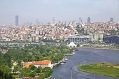 stock photo of inlet  - Golden Horn inlet in Istanbul city Turkey - JPG