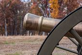 foto of battlefield  - closeup of reproduction cannon on Ball - JPG