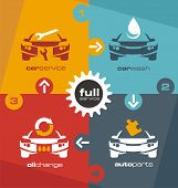 pic of car symbol  - Full car service info graphic - JPG