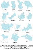 stock photo of freetown  - Map of all areas - JPG