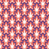 image of motif  - Vintage hand drawn art deco pattern with scale and floral motifs - JPG