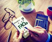 image of faq  - Digital Online FAQs Community Office Working Concept - JPG