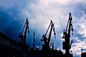 stock photo of shipyard  - Industrial conceptual image - JPG