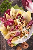picture of chicory  - fresh salad with chicory and walnut - JPG