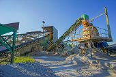 picture of sand gravel  - Industrial Gravel Quarry and Sand Stone Refinery - JPG