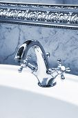 pic of mixing faucet  - beautiful water faucet in a bathroom - JPG