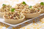 picture of cod  - Salad with cod liver - JPG