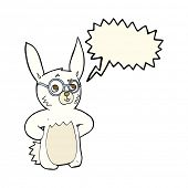 picture of spectacles  - cartoon rabbit wearing spectacles - JPG