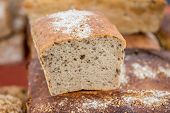 pic of polonia  - traditional polish bread with lot of flax seeds - JPG