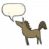 picture of unicorn  - cartoon unicorn with speech bubble - JPG