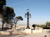 image of israel people  - Lantern on Haas Promenade in Jerusalem Israel - JPG