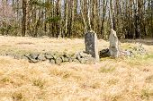 picture of burial  - Old abandoned cholera burial ground in Blekinge Sweden from around 1853 - JPG