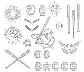 image of hitter  - Vector baseball sport bundle for any use - JPG