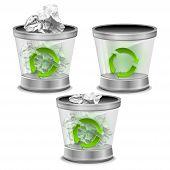 foto of trash truck  - Illustration trash can on a white background vector - JPG
