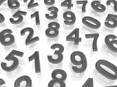 pic of zero  - Background of numbers - JPG