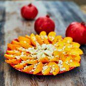 foto of oats  - Sliced fruits arrangement - JPG