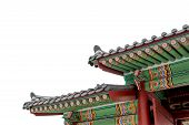 picture of south-pole  - Gyeongbokgung famous palace in South Korea isolated on white background - JPG