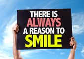 stock photo of feeling better  - There Is Always a Reason to Smile card with sky background - JPG