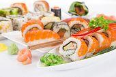 pic of dragon-fish  - Japanese seafood sushi set - JPG