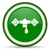 stock photo of hydraulics  - water green icon hydraulics sign  - JPG