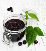 Постер, плакат: Blackberry Jam And Fresh Blackberries