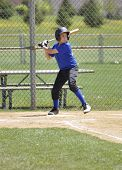 picture of little-league  - little league baseball player ready at homeplate - JPG