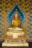 pic of budha  - The gold Budha Statue at thai temple - JPG