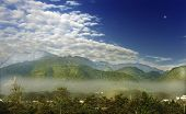 stock photo of emei  - beautiful emei mountains in the morning - JPG