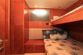 stock photo of bunk-bed  - A double bunk or kids room on board a large luxury yacht - JPG