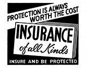 Постер, плакат: Страхование всех видов 2 ретро рекламный баннер искусство