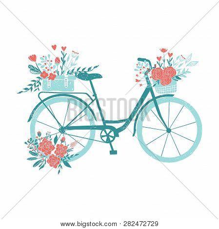 Hand Drawn Bicycle Romantic Bike