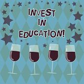 Word Writing Text Invest In Education. Business Concept For Sponsor Agrees Provide Student With Fund poster