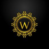 Luxury Logo, Letter W Logo, Classic And Elegant Logo Designs For Industry And Business, Interior Log poster