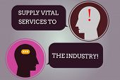 Conceptual Hand Writing Showing Supply Vital Services To The Industry. Business Photo Text Power Sup poster