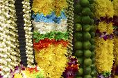 picture of ganpati  - A mixture of fresh flower bouquet used in the Deepavali praying ceremony - JPG