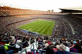 BARCELONA - MAY 8: FC Barcelona stadium, Camp Nou, during the match between FC Barcelona and RCD Esp