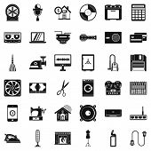 Homework Appliance Icons Set. Simple Style Of 36 Homework Appliance Icons For Web Isolated On White  poster