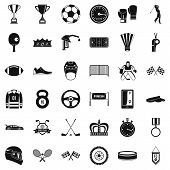 Achievement Icons Set. Simple Style Of 36 Achievement Icons For Web Isolated On White Background poster