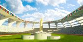 picture of olympiad  - a Stadium with podium for athletes awards - JPG