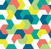 Seamless Pattern. Endless Background Of Geometric Shapes. Arrow Seamless Pattern. Geometric Pattern. poster