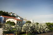 stock photo of guayaquil  - view of las penas from malecon 2000 historic district art center guayaquil ecuador - JPG