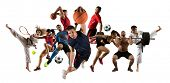 Huge multi sports collage taekwondo, tennis, soccer, basketball, football, judo, etc poster