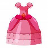 Princess Dress Icon. Cartoon Illustration Of Princess Dress Icon For Web poster