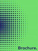 Gradient Halftone Pattern Diagonal Vector Illustration. Pink Dots, Blue Halftone Texture. Pop Art Bl poster